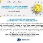"""""""La Valorizzazione del Brand nel processo di Internazionalizzazione"""" – Corso gratuito per le Imprese – Jesi, 2-3 Aprile 2019"""