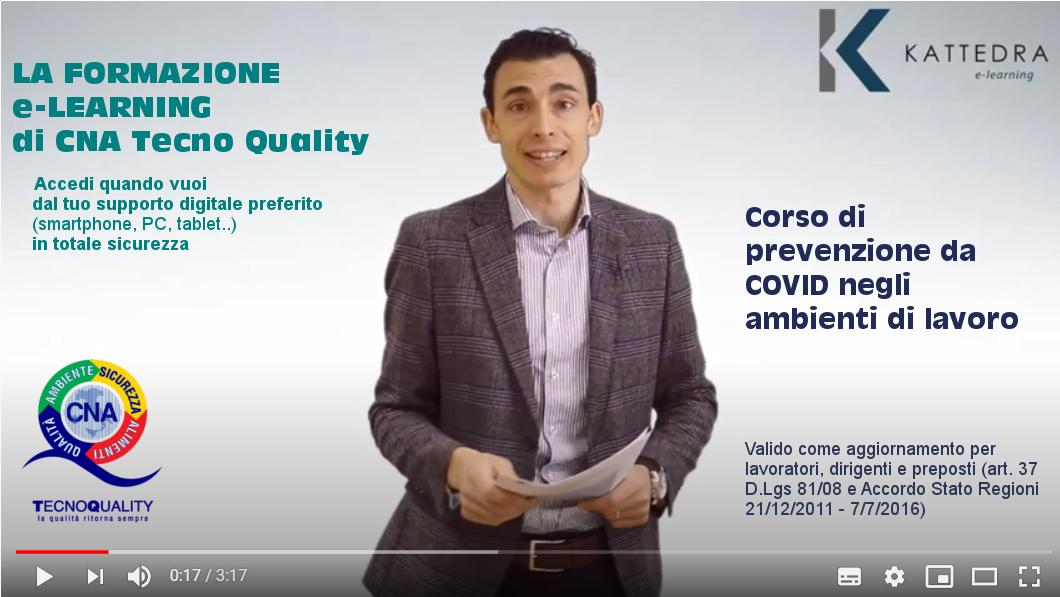 Accelera la riapertura in sicurezza. Corso Prevenzione da COVID online per Dipendenti.