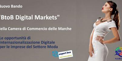 """Fiere virtuali e marketplace per il Settore Moda finanziabili con il bando """"BtoB Digital Markets"""""""