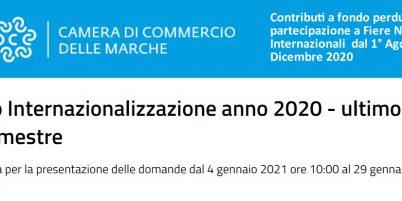 Riapre il Bando Fiere Nazionali ed Internazionali 2020. Presentazione domande dal 4 gennaio
