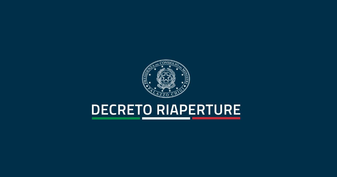"""Decreto Legge 18 maggio 2021 """"Calendario Riaperture"""""""