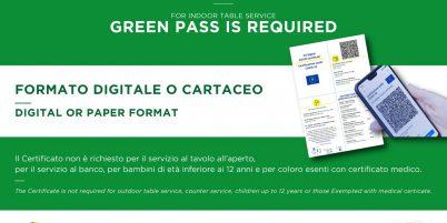 Tutto sul Green Pass in vigore dal 6 agosto 2021 per l'accesso ad alcuni servizi